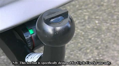 Thule Rear Mount Connector Towbar for Toyota Prius - YouTube