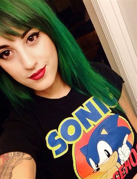 Anissa Rodriguez Straight Green Sideswept Bangs, Uneven