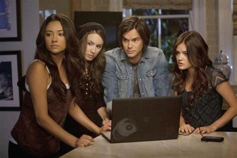 Emily Fields,Spencer Hastings,Caleb Rivers,and Aria