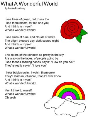 What a Wonderful World by Louis Armstrong | Nursery songs