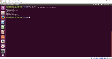 getopt() function in C to parse command line arguments