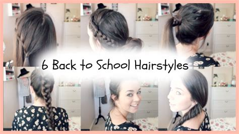 6 Back to School Quick & Easy Braided Hairstyles - YouTube