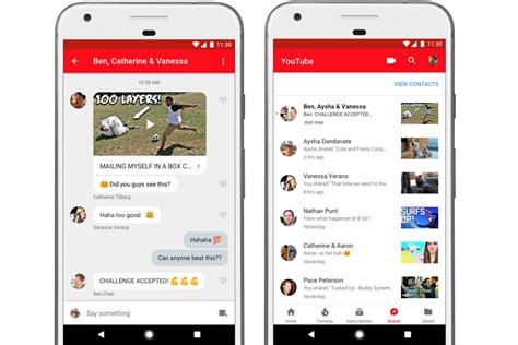 YouTube adds an in-app messaging feature for sharing and