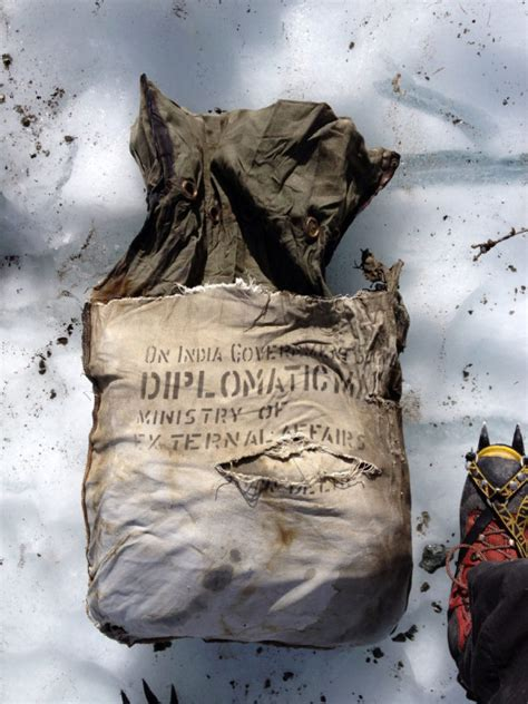 Indian diplomatic pouch from 1966 found in plane wreckage