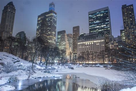 Blizzard of 2015 in Central Park New York City   I