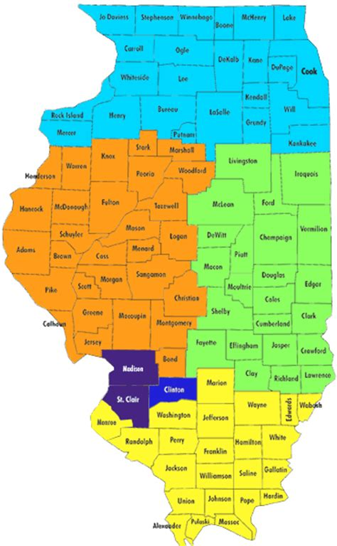 Admission Territories for Illinois Counties | McKendree