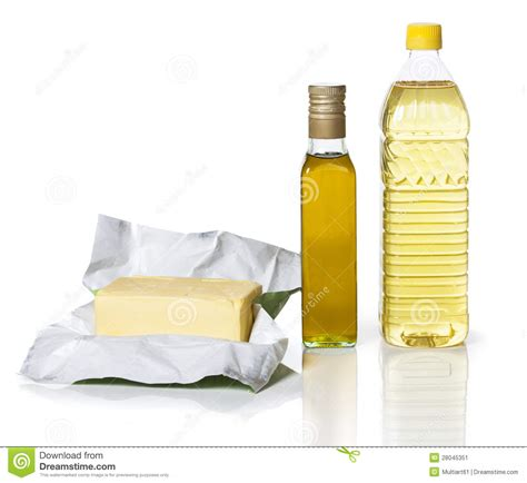 Butter and Oil stock image