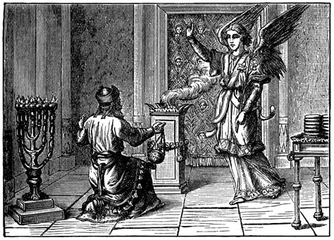 Zacharias is Told by an Angel that His Wife Will Have a