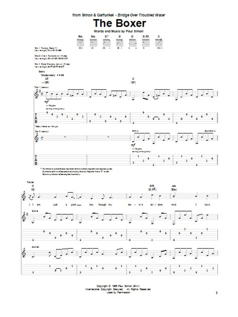 The Boxer | Sheet Music Direct