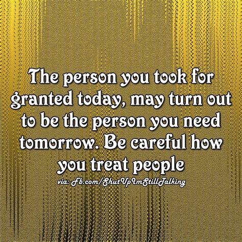 Truth Follower: Never take anyone for granted, Karma will
