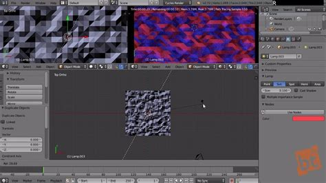 Abstract Geometric Images in Blender