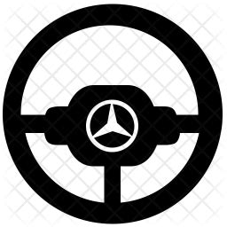 Mercedes steering Icon of Glyph style - Available in SVG