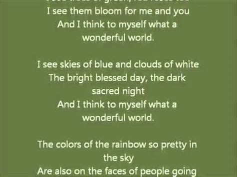 What a wonderful world by Louis Armstrong =D [With lyrics