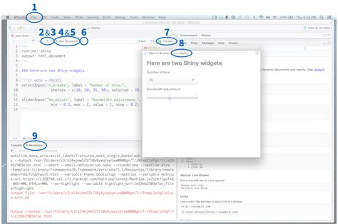 Shiny - R Markdown integration in the RStudio IDE