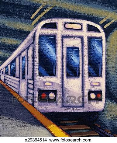 Drawings of Subway train x29364514 - Search Clip Art