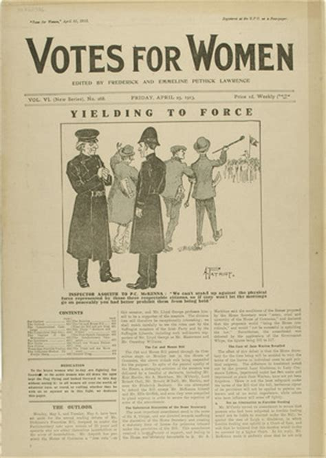 Cover of the newspaper Votes for Women: 1913 at Museum of