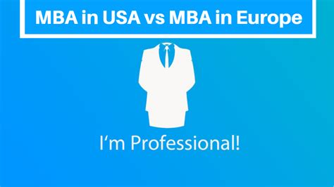 MBA in Europe is entirly different than MBA in USA