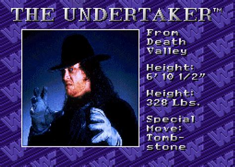 The Undertaker - WWF Royal Rumble (1993) - Roster