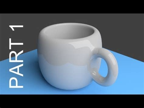 Blender Tutorial For Beginners: Coffee Cup - 1 of 2 - YouTube