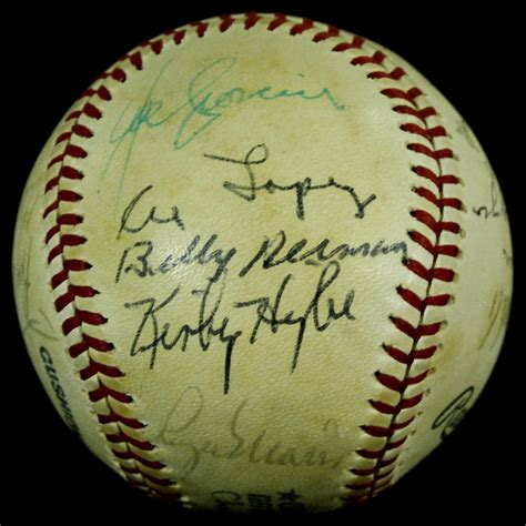 HOF & Legends Baseball Signed by (23) with Roger Maris